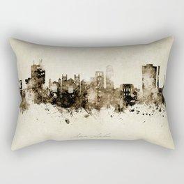 Ann Arbor Michigan Skyline Rectangular Pillow