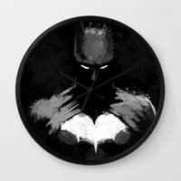 bats Wall Clocks featuring Bats by Scofield Designs