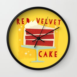 All American Classic Red Velvet Cake Wall Clock