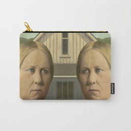 Gay American Gothic - LGBT Marriage Equality Carry-All Pouch
