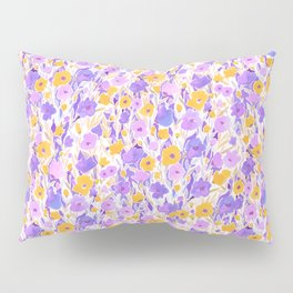Flower Field Yellow Lilac Pillow Sham