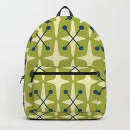 Mid Century Modern Star Pattern 541 Chartreuse Backpack
