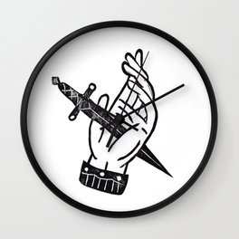 Hand & Dagger Wall Clock