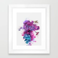Hummingbirds Ink Framed Art Print
