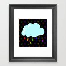 I wish it could rain colors Framed Art Print
