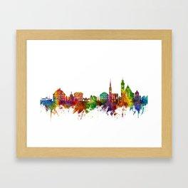 Hallstatt Austria Skyline Framed Art Print