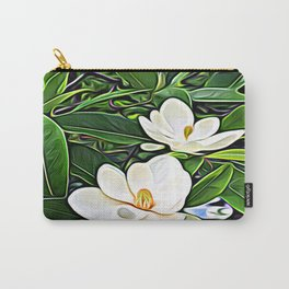White Flowers of the Purest Essence Carry-All Pouch