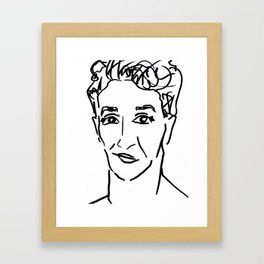 Rachel Maddow Outline Framed Art Print