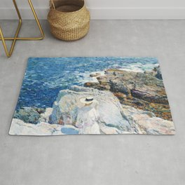 Frederick Childe Hassam - The South Ledges, Appledore - Digital Remastered Edition Rug
