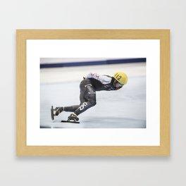 Charles Hamelin, Olympic Champion, Official Action Framed Art Print
