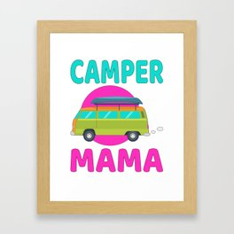Camper Mama Framed Art Print