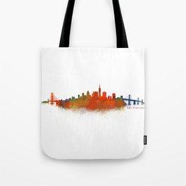 San Francisco City Skyline Hq v2 Tote Bag