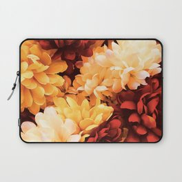 Autumn Bright Floral Bouquet in Scarlet and Gold Laptop Sleeve