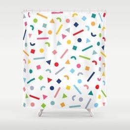 geometric funfetti Shower Curtain