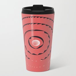 Red abstract geometrical Metal Travel Mug