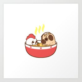 chicken noodle puglie soup Art Print