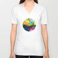 splash V-neck T-shirts featuring Splash by zAcheR-fineT