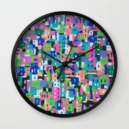 City View by Night Wall Clock