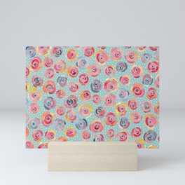 Watercolor Roses with Dots - Forever is Composed of Nows Mini Art Print