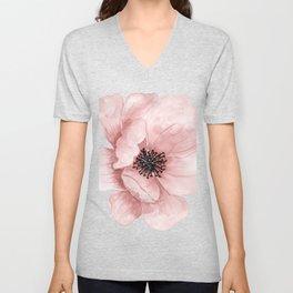 :D Flower Unisex V-Neck