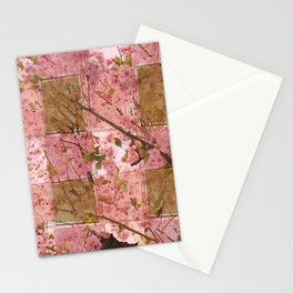 Blooming Squares Stationery Cards