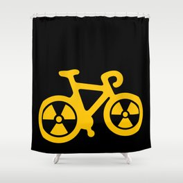 Radioactive Bicycle Shower Curtain