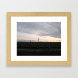 Townline Tracks Framed Art Print