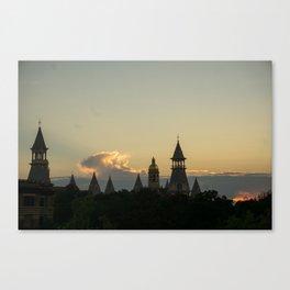 Baylor University Sunset Canvas Print