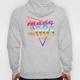 """Made in the 90s"" Vaporwave design. Retro 90's Birthday Gift design Hoody"