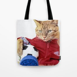 The Cat is #Adidas Tote Bag