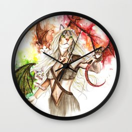 Millie and her dragons Wall Clock
