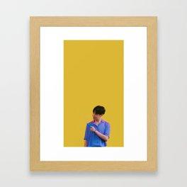 Yellow hobi Framed Art Print