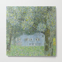 Gustav Klimt - Farmhouse in Upper Austria Metal Print