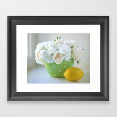 Polka Dots and a Lemon Framed Art Print