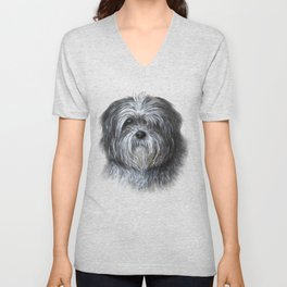 Dog 138 Shih Tzu Unisex V-Neck