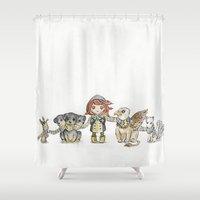 holiday Shower Curtains featuring Holiday by Freeminds