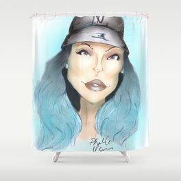 Kylie Jenner Realness  Shower Curtain