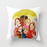 hero Throw Pillows featuring Hero by Erika Meza