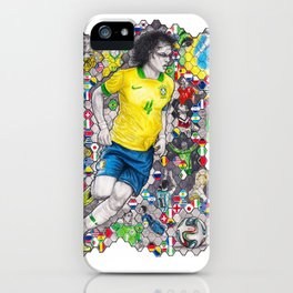 David Luiz and the 2014 Brazil World Cup iPhone Case