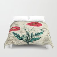 romantic Duvet Covers featuring Romantic by Susann Mielke