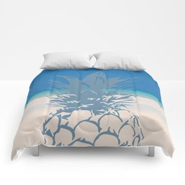 Pineapple Tropical Beach Design Comforters