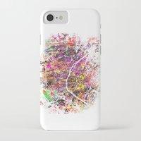 paris map iPhone & iPod Cases featuring Paris by Nicksman
