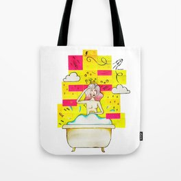 Bath Tub Post-it Tote Bag