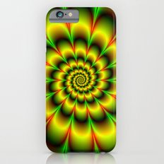 Spiral Rosette in Yellow Green and Red Slim Case iPhone 6s