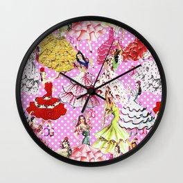 FLAMENCA POP PINK Wall Clock