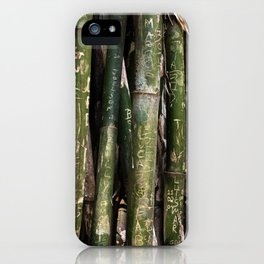 Bamboos in Maringá iPhone Case