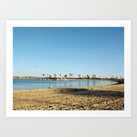 san diego Art Prints featuring San Diego by Audrey Mourgues