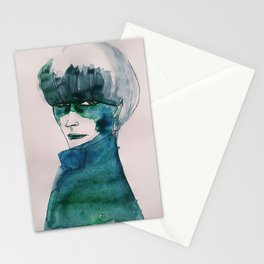 Blue-Green Skin Stationery Cards