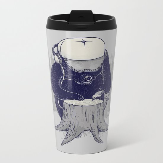 Hey DJ Metal Travel Mug
