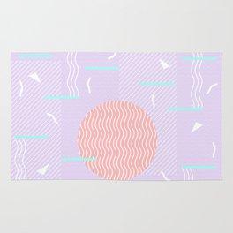 Memphis Summer Lavender Waves Rug